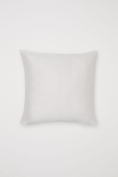 Jacquard-weave cushion cover - Beige/Patterned -  | H&M CN