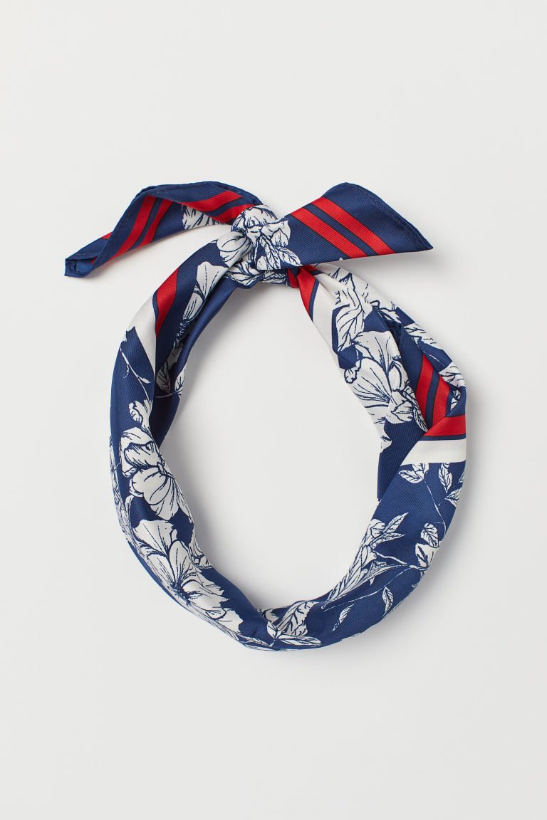 Scarf/hairband - Dark blue/Floral - Ladies | H&M