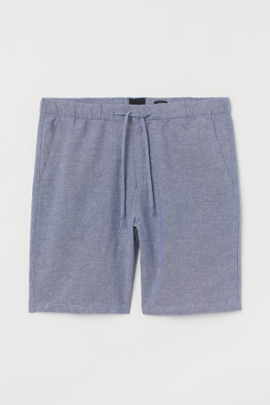 Relaxed Fit Linen-blend Shorts
