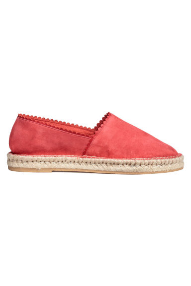 Espadrilles - Red/Suede - Ladies | H&M IN