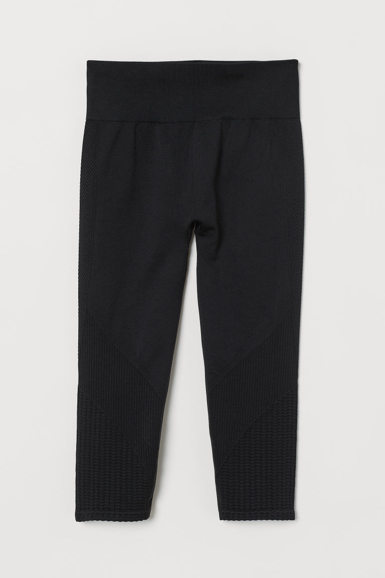 Seamless sports tights - Black - Ladies | H&M