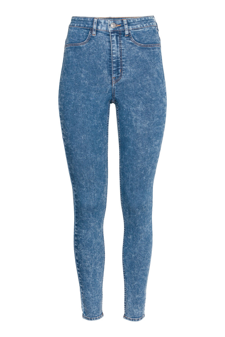Super Skinny High Jeans - Blue washed out - Ladies | H&M