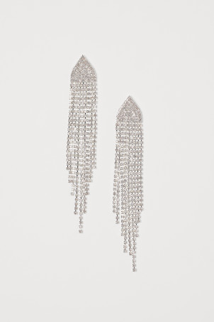 Long sparkly stone earrings