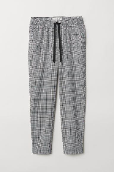 Joggers - Black/White checked - Ladies | H&M CN