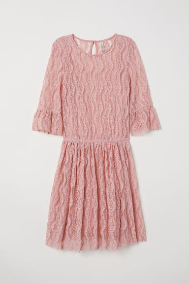 Lace dress - Old rose -  | H&M