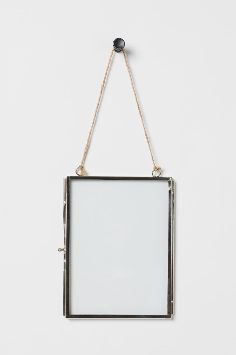 Metal photo frame - Silver-coloured - Home All | H&M GB