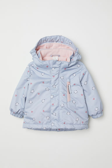 Padded outdoor jacket - Light grey/Cats - Kids | H&M