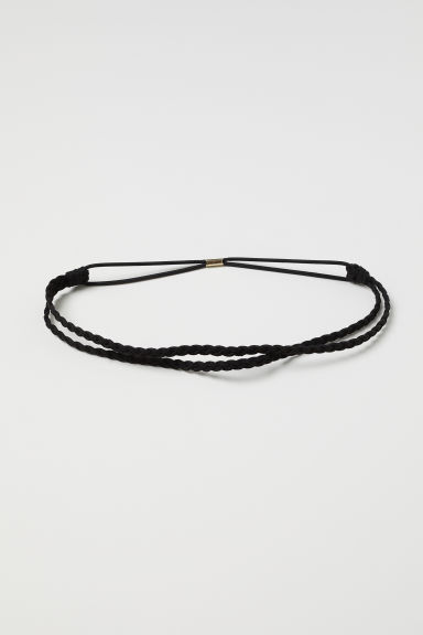 Braided hairband - Black - Ladies | H&M