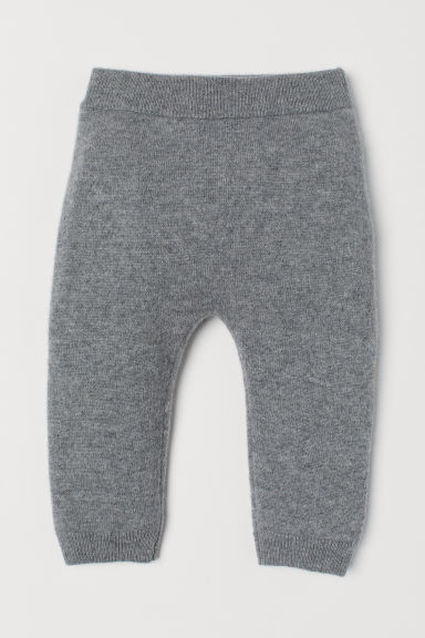 Cashmere trousers - Grey marl - Kids | H&M