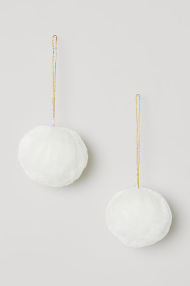 2-pack Christmas decorations - White - Home All | H&M CN