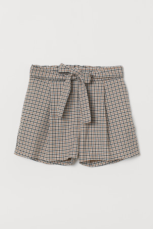 Shorts with Tie Belt
