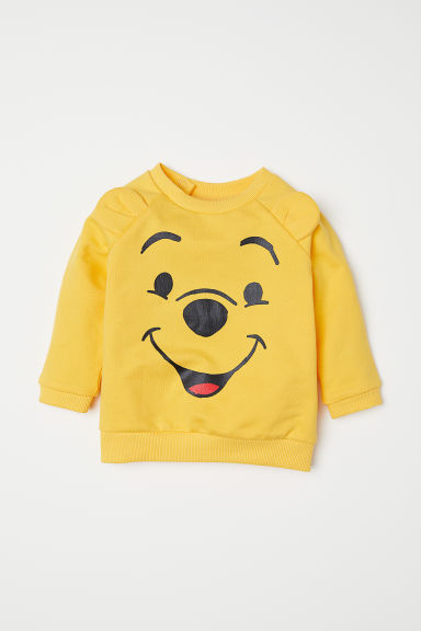 Sweatshirt with a motif - Yellow/Winnie the Pooh -  | H&M CN