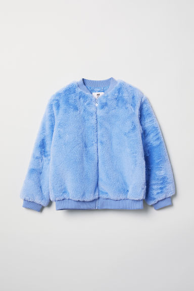 Faux fur bomber jacket - Light blue - Kids | H&M