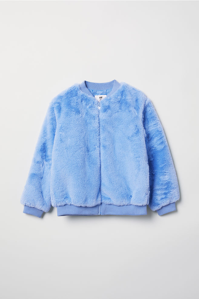 7dacd7193 Faux fur bomber jacket - Light blue - Kids