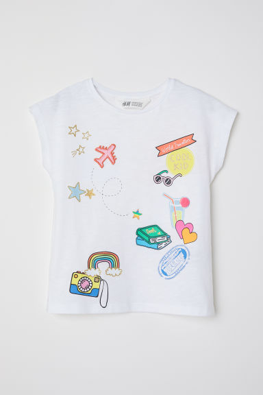 Camiseta con motivo estampado - Blanco/Cool Kid -  | H&M ES