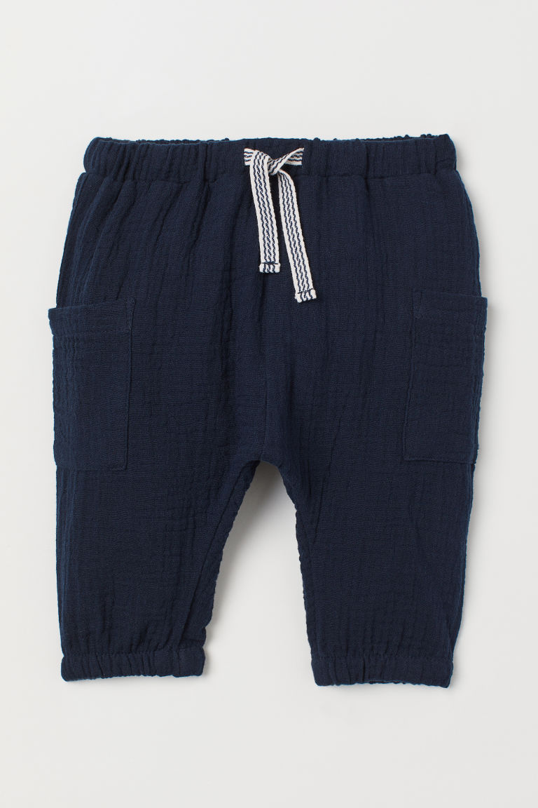 Cotton joggers - Dark blue - Kids | H&M