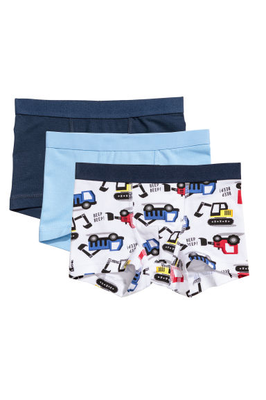 Lot de 3 boxers - Blanc/pelleteuses - ENFANT | H&M BE