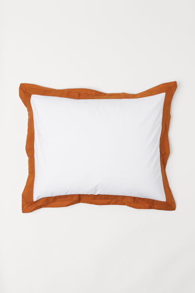 Oxford-style Pillowcase - White/ocher - Home All | H&M US