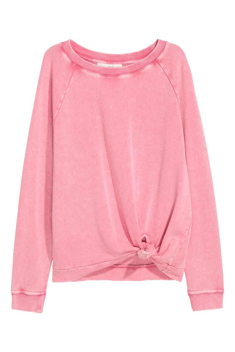 Knot-detail sweatshirt - Pink - Ladies | H&M CN