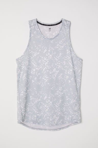 Running vest top - Grey/Patterned -  | H&M