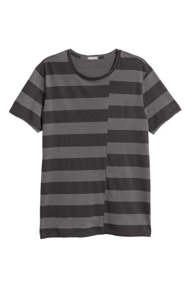 Striped T-shirt - Dark grey/Black striped -  | H&M