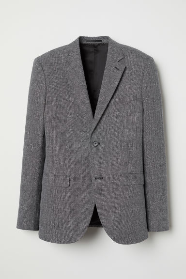 Wool-blend jacket Slim fit - Dark grey marl - Men | H&M