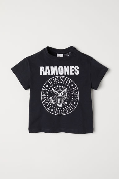 Printed T-shirt - Black/Ramones - Kids | H&M CN