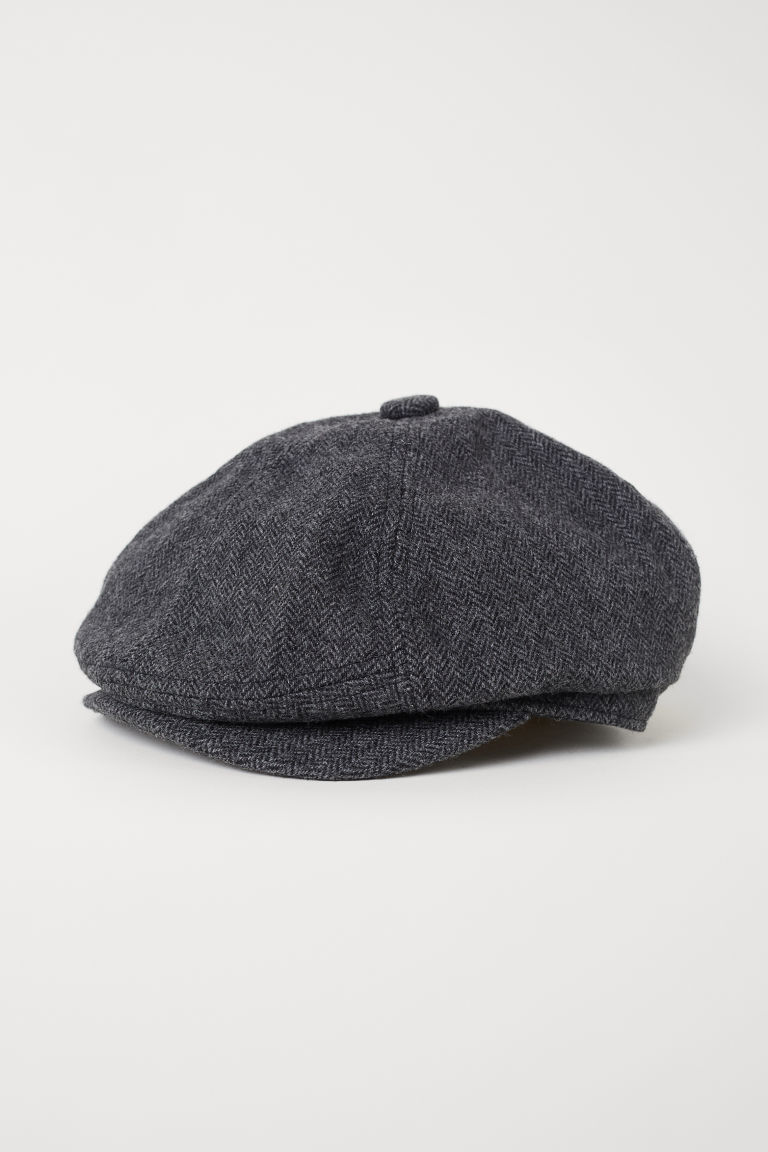 Flat cap - Black marl - Men | H&M CN