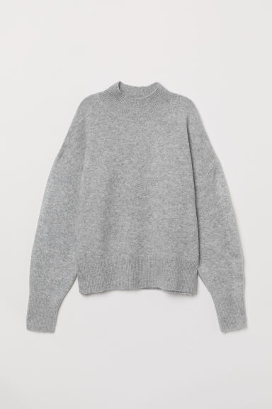Fine-knit jumper - Light grey marl - Ladies | H&M IE
