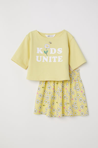 Skirt and top - Light yellow/Kids Unite - Kids | H&M CN