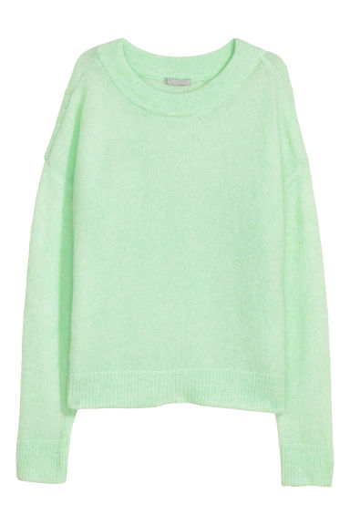 Wool-blend jumper - Light green - Ladies | H&M CN