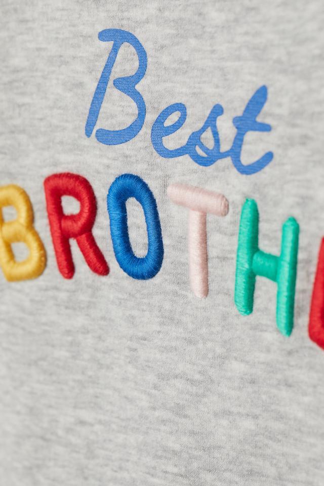 7cbf1a8a5167fe Sweater met borduursel - Grijs gemêleerd Best brother - KINDEREN ...