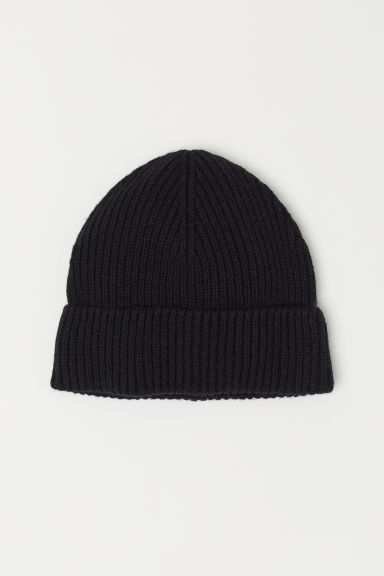 Wool-blend hat - Black -  | H&M CN