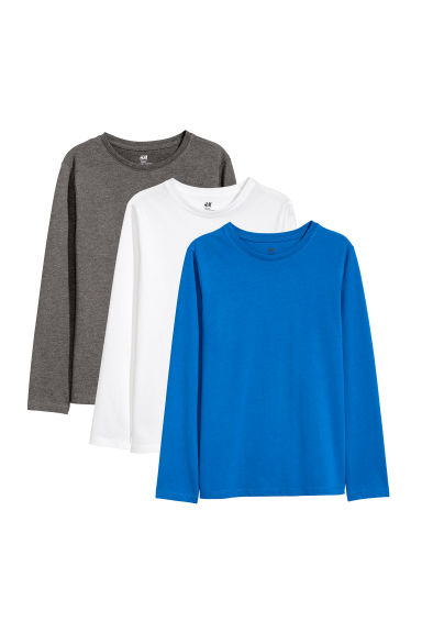 3-pack jersey tops - Bright blue -  | H&M