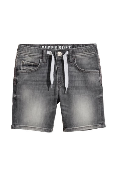 Super Soft denim shorts - Grey denim -  | H&M CN