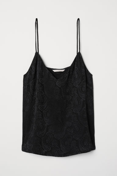 Viscose top - Black - Ladies | H&M CN