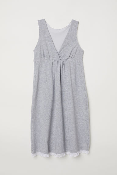 MAMA Nursing nightdress - Light grey marl - Ladies | H&M CN