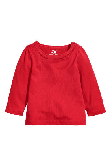 Jersey top - Red - Kids | H&M CN