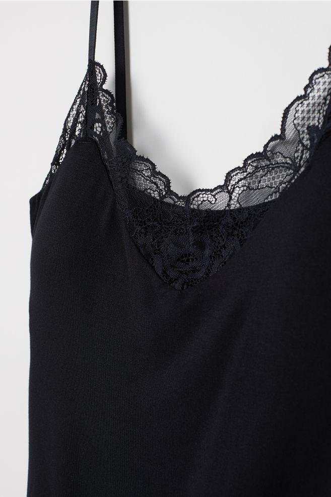 656b30a871 Camisole Top with Shelf Bra - Black - Ladies