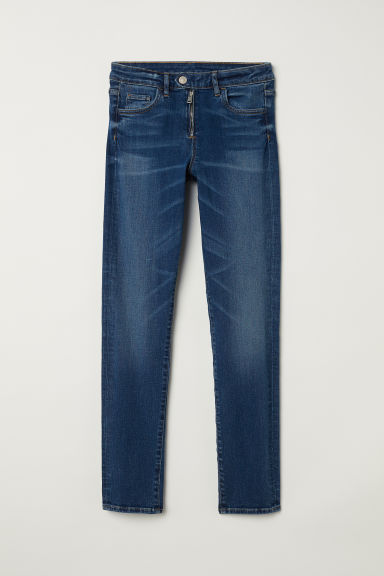 Skinny Regular Ankle Jeans - 牛仔蓝 - Ladies | H&M CN