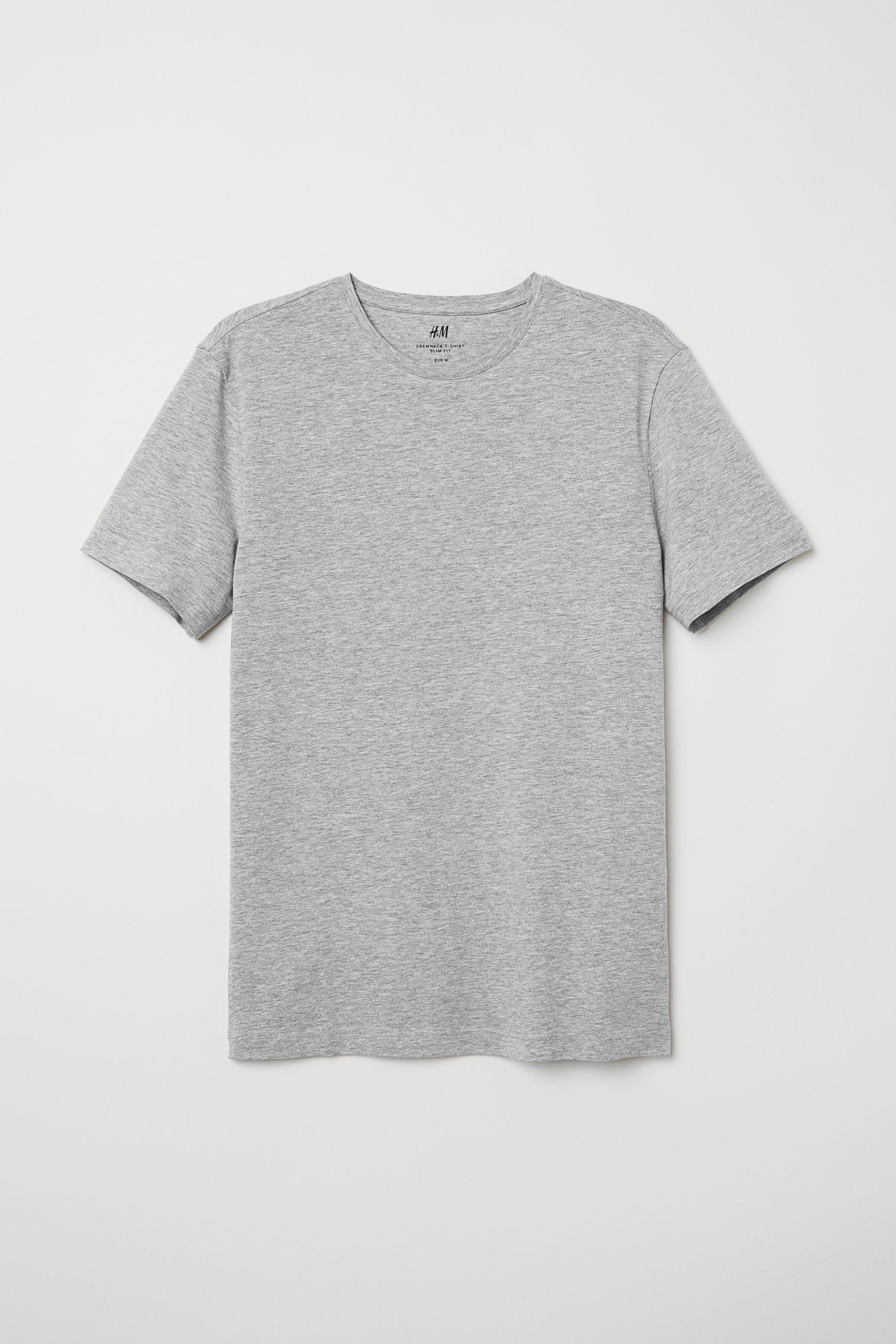 c2120eb87b3 Crew-neck T-shirt Slim fit - Black - Men
