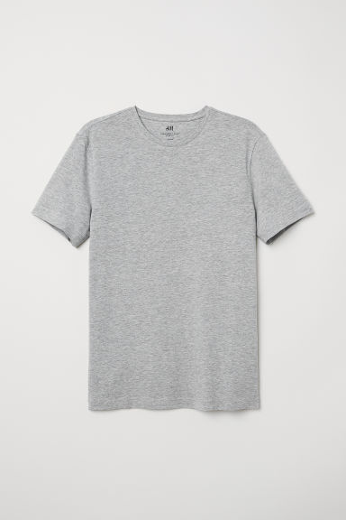 T-shirt - Slim fit - Grijs gemêleerd - HEREN | H&M BE