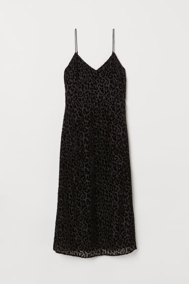Patterned dress - Black/Leopard print - Ladies | H&M