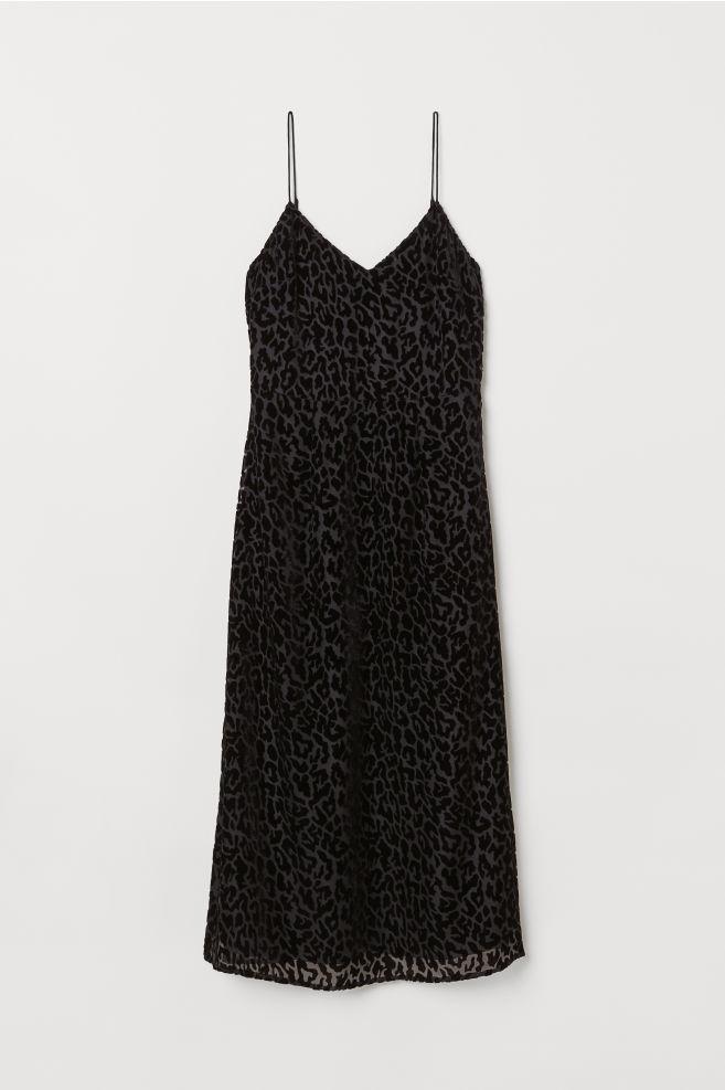 9c393d057758 Mønstret kjole - Sort Leopardmønstret - DAME