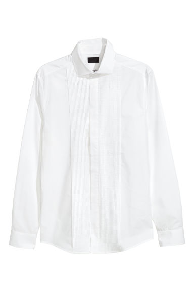 Chemise de smoking Slim fit - Blanc -  | H&M CH