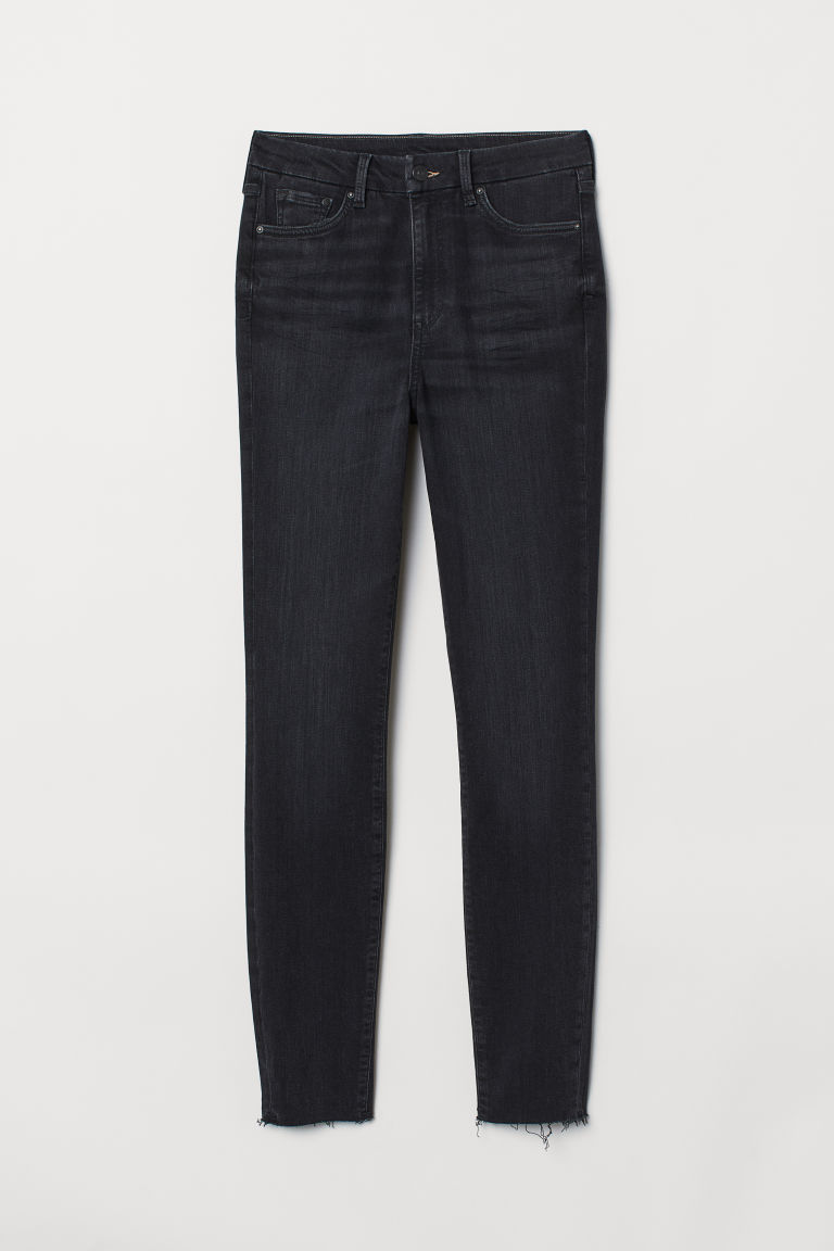 Embrace High Ankle Jeans - Sort washed out -  | H&M NO