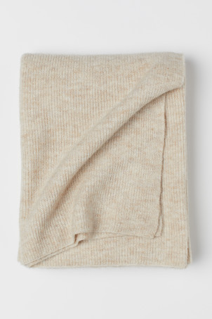 Ribbed Wool-blend Throw