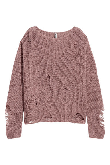 Knitted jumper - Vintage pink marl - Ladies | H&M CN