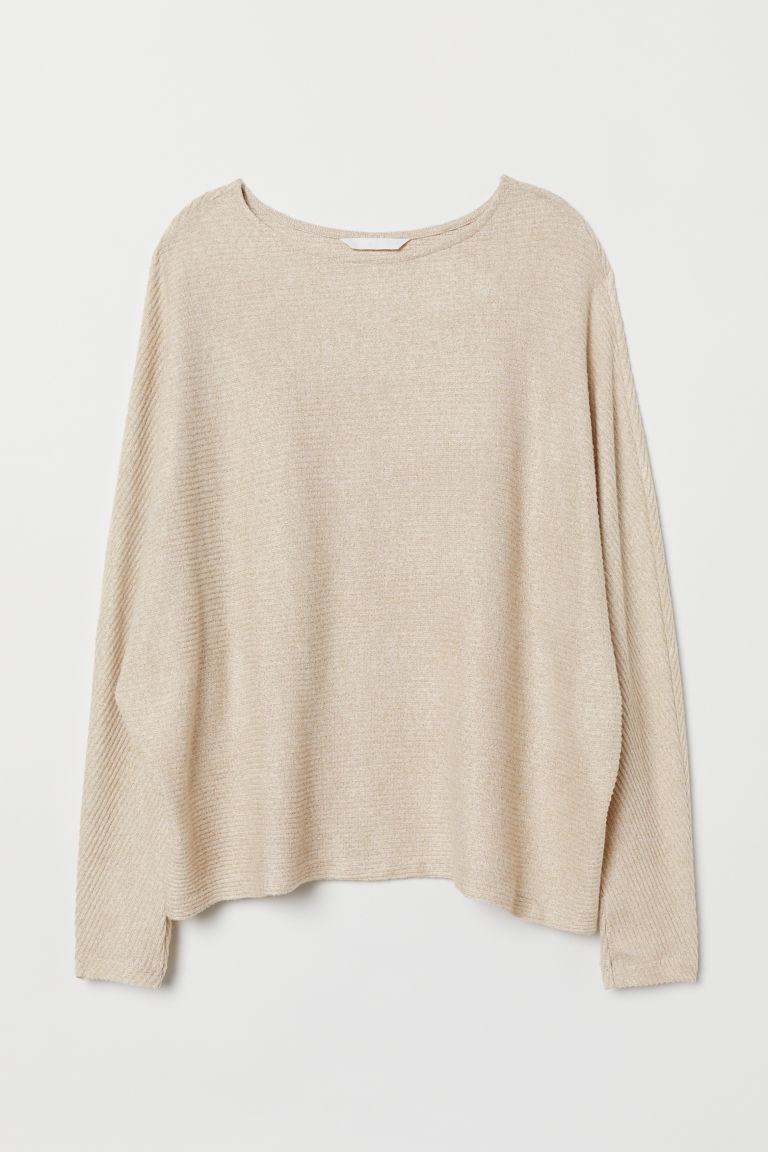 Top with dolman sleeves - Beige marl - Ladies | H&M GB