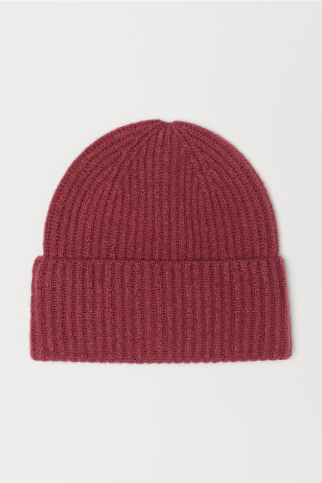Cashmere-blend Hat - Dark pink - Ladies  7481f00879fd